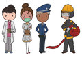 Emergency services set of people Royalty Free Stock Photography