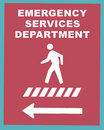 Emergency Services Sign 2 Royalty Free Stock Image