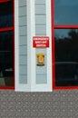 Emergency Shut-Off Switch Gas Station Pump Royalty Free Stock Photo