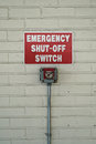 Emergency Shut Off Switch Sign Royalty Free Stock Photo
