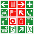 Emergency signs set of safety illustration design Royalty Free Stock Photo
