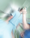 Emergency situation in the hospital photo Stock Photo