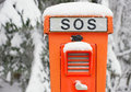 Emergency SOS telephone Stock Photo