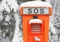 Emergency SOS telephone Royalty Free Stock Photo