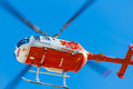 Emergency squad helicopter an on duty Royalty Free Stock Images