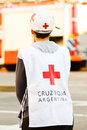 Emergency squad an woman on duty Stock Photography