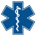 Emergency star - medical symbol caduceus snake wit