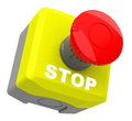 The emergency stop d generated picture of a Royalty Free Stock Photo