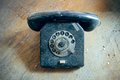 Emergency telephone an old rotary phone and labeling Royalty Free Stock Photography