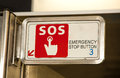 Emergency tell a warning signal stop button Royalty Free Stock Photography