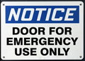 Emergency Use Door Sign Royalty Free Stock Photo