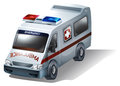 An emergency vehicle illustration of on a white background Stock Photos