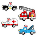 Emergency vehicles vector Royalty Free Stock Images