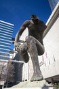 Emergir da escultura situado perto de andrew young memorial park Fotografia de Stock