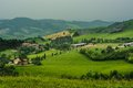 Emilia romagna hills apennines cultivated area surrounded by and badlands Royalty Free Stock Photo