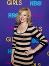 "Emily bergl actress arrives on the red carpet for the new york premiere of the third season of the hit hbo cable comedy ""girls Stock Photo"