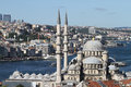 Eminonu New Mosque in Istanbul City Royalty Free Stock Photo