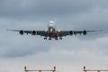 Emirates airlines plane landing