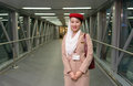 Emirates crew member moscow june on june in moscow russia handles major part of passenger traffic and aircraft movements Royalty Free Stock Images
