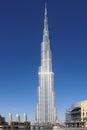 Emirates. Dubai. The tallest building in the world. Burj khalifa Royalty Free Stock Photo