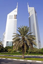 Emirates Towers in Dubai Royalty Free Stock Photo
