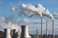 Emission of coal power plant Royalty Free Stock Photo