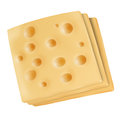 Emmental cheese slices on white Royalty Free Stock Photo