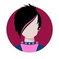 Emo avatar vector illustration of Stock Image