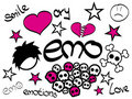 Emo Design elements Stock Image