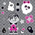 Emo Girl Royalty Free Stock Photo
