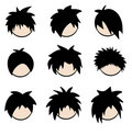 Emo Hairstyles Stock Images