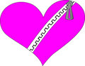 Emo heart with zip Stock Photography