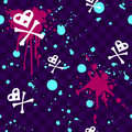 Emo seamless pattern with paint-splatters Stock Photo