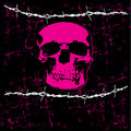 Emo Skull Background Royalty Free Stock Image