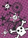 Emo style cartoon skull and stars cel phone wallpaper 6 Royalty Free Stock Photo