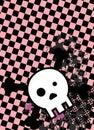Emo style cartoon skull and stars cel phone wallpaper 7 Royalty Free Stock Photo