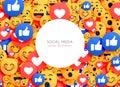 Emoji background smiley icons for social media