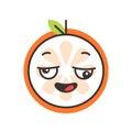 Emoji - crazy orange. Isolated vector.