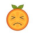 Emoji - crying orange. Isolated vector.
