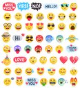 Emoji emoticons symbols icons set. Royalty Free Stock Photo