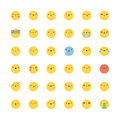 Emoji icon vector set. Flat korean style emoticons.