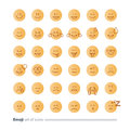 Emoji icons, emoticon symbols, face expression signs, minimalistic flat design