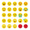 Emoji set. Emoticon cartoon emojis symbols digital chat objects vector icons