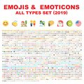 EMOJIS & EMOTICONS VECTOR SET 2019