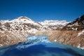 Emosson dam reservoir Royalty Free Stock Photo