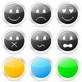 Emoticon circle icon set Stock Image