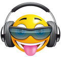 Emoticon DJ Imagem de Stock Royalty Free