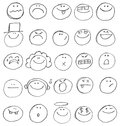 Emoticon doodles Stock Photos
