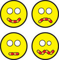 Emoticon Faces With Pill Expressions Royalty Free Stock Photos