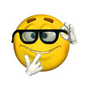 Emoticon - Geek / Nerd Stock Photography